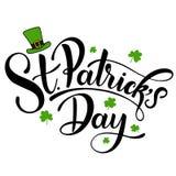 Happy Saint Patrick`s Day Vector illustration. Irish celebration design. Hand drawn badge with shamrock and rainbow. Happy Saint Patrick`s Day Vector Royalty Free Stock Image