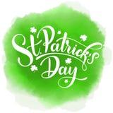 Happy Saint Patrick`s Day Vector illustration. Irish celebration design. Hand drawn badge with shamrock and rainbow. Happy Saint Patrick`s Day Vector Royalty Free Stock Photo