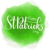 Happy Saint Patrick`s Day Vector illustration. Irish celebration design. Typography badge with shamrock and rainbow. Happy Saint Patrick`s Day Vector Stock Photo