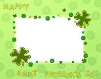 Happy saint patricks day. Green illustration stock illustration