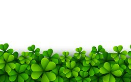 Happy Saint Patricks Day Background with clover leaves. Illustration of Happy Saint Patricks Day Background with clover leaves Royalty Free Stock Photo