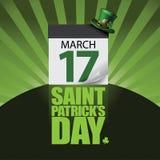 Happy Saint Patricks Day burst calendar design Stock Photography