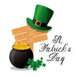 Happy saint patricks day card Stock Photography