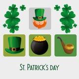 Happy saint patricks day card Royalty Free Stock Photos