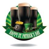 Happy Saint Patrick's Day dark beer burst icon Royalty Free Stock Image