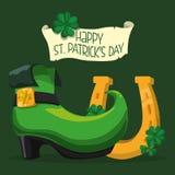 Happy Saint Patricks day design. Happy Saint Patricks day concept with celebration design, vector illustration 10 eps graphic stock illustration