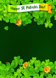 Happy Saint Patricks Day green background with Royalty Free Stock Photography