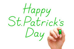 Happy Saint Patricks Day Green Marker Stock Image