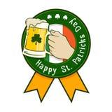 Happy Saint Patricks Day Icon Label Royalty Free Stock Photos