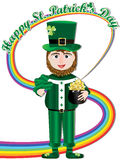 Happy Saint Patricks Day Rainbow Card_eps Royalty Free Stock Photo