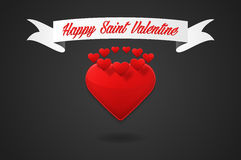 Happy Saint Valentine greeting Royalty Free Stock Images
