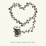 Happy Saint Valentines Day Royalty Free Stock Photography