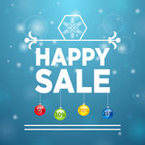 Happy Sale and Christmas Ball Royalty Free Stock Photos