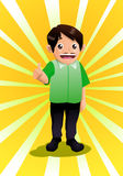 Happy sales man. Illustration of a business happy sales man Royalty Free Stock Image