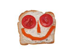 Happy sandwich Royalty Free Stock Image