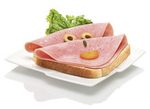 Happy sandwich for a party Stock Images