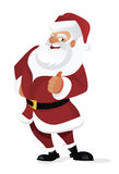Happy santa. With thumb up on white background Royalty Free Stock Image