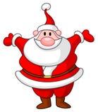 Happy Santa. Raising his arms Royalty Free Stock Image