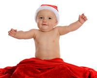 Happy Santa Baby Stock Photography