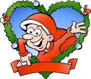 Happy santa boy. Hand-drawn Vector illustration of an happy santa boy Stock Image