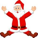 Happy Santa cartoon. Illustration of Happy Santa cartoon Stock Photo
