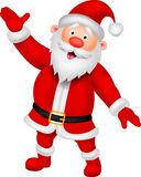 Happy Santa cartoon waving hand Stock Images