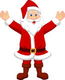Happy Santa cartoon waving hand Stock Photo