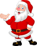Happy Santa cartoon waving hand Royalty Free Stock Photos