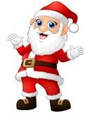 Happy Santa cartoon waving hand Stock Images