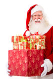 Happy Santa with Christmas gifts Royalty Free Stock Photo