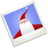 Happy Santa Christmas Polaroid Photograph Stock Image