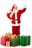 Happy Santa with Christmas presents Stock Photography