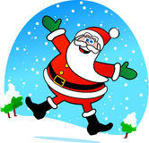 Happy Santa Claus Stock Photo