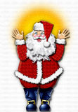 Happy Santa Claus Stock Photography