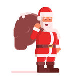 Happy Santa Claus with Bag Royalty Free Stock Images