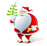 Happy Santa Claus with bell Stock Photo