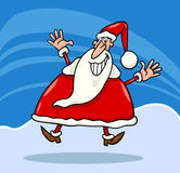 Happy santa claus cartoon Stock Photography