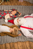 Happy Santa Claus with children Royalty Free Stock Photography