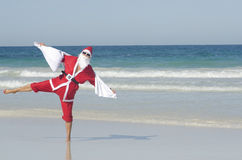 Happy Santa Claus Christmas Beach Holiday Royalty Free Stock Photo