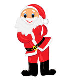 Happy santa claus clapping hands illustration Stock Photo