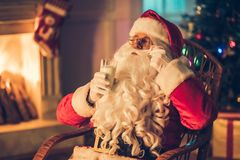 Santa Claus in his residence Stock Images