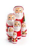 Happy Santa Claus Family Royalty Free Stock Photography