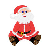 Happy santa claus illustration. isolated character Royalty Free Stock Photography
