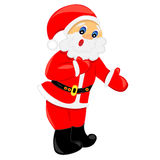 Happy santa claus.isolated character Stock Photos