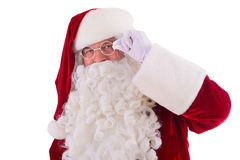 Happy Santa Claus Isolated Stock Photo
