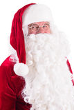 Happy Santa Claus. Isolated Royalty Free Stock Photography