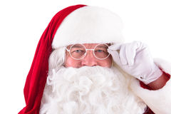 Happy Santa Claus. Isolated Stock Images