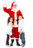 Happy Santa Claus with kids Royalty Free Stock Photo