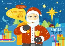 Happy Santa Claus profession series Royalty Free Stock Photography