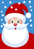 Happy Santa Claus with snow flakes Stock Photography